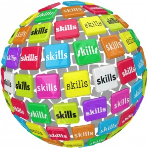 http://www.dreamstime.com/stock-image-skills-word-sphere-ball-required-experience-job-career-to-illustrate-many-different-skillsets-knowledge-training-image35557201